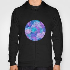 Leaves in Rosy Background Hoody