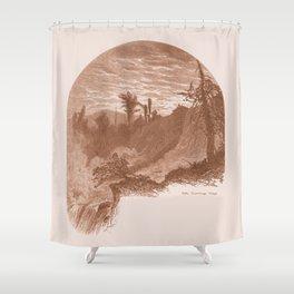 Lower Falls, Vintage Ticonderoga Shower Curtain