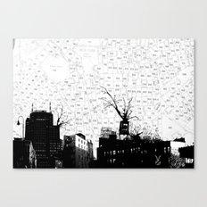 NYC splatterscape Canvas Print