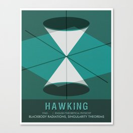 Science Poster - Stephen Hawking - Theoretical Physicist Canvas Print