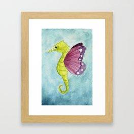 Seahorse butterfly Framed Art Print