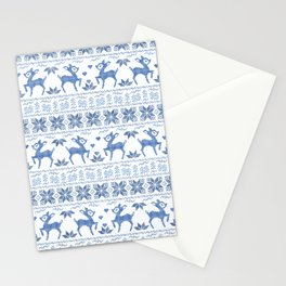 Christmas pattern. Cross-stitch. 2 Stationery Cards