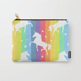 Rainbow Unicorns Carry-All Pouch