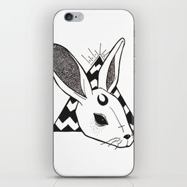 Oh Bunny Wht iPhone Skin