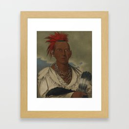 George Catlin 1796 - 1872 BLACK HAWK, PROMINENT SAUK CHIEF, SAUK AND FOX Framed Art Print