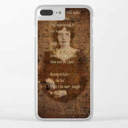 Emily Dickinson 4 Clear iPhone Case