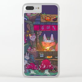 Yatai in the woods Clear iPhone Case