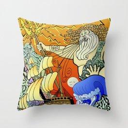 Tales of the Trident:Poseidon Throw Pillow