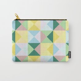 colorful geometrical classic retro Okubi Carry-All Pouch