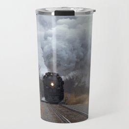 Big Boy Steaming threw Black Wolf Kansas Travel Mug