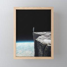 On the edge ... Framed Mini Art Print