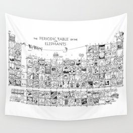 Periodic Table of the Elephants Wall Tapestry