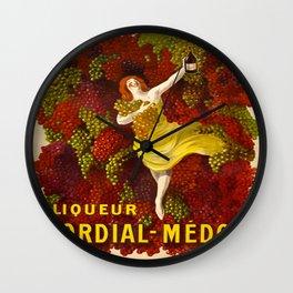 Vintage poster - Liqueur Cordial-Medoc Wall Clock