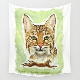 Noel Bobcat - Run Free Wall Tapestry
