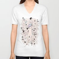 cosmos V-neck T-shirts featuring Cosmos by Studio Anemone