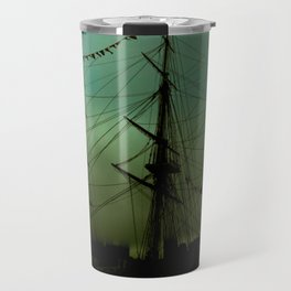 Green ship Travel Mug