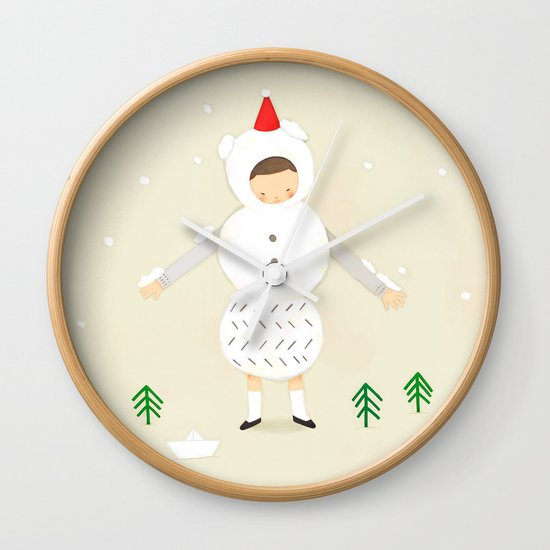 snow snow Wall Clock