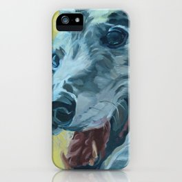 Dilly the Greyhound Portrait iPhone Case