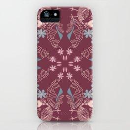 Rooster Batik - Maroon iPhone Case