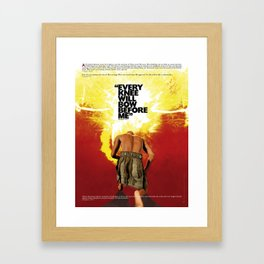 Every knee will bow before Me Framed Art Print