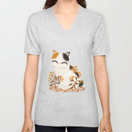 Bobtail Cat Unisex V-Neck