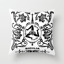 sicilia- trinacria Throw Pillow