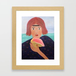 Beachcomber Framed Art Print