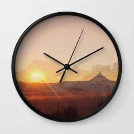 Western America Landscpe Wall Clock