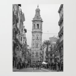 Black White Architecture in Valencia Poster
