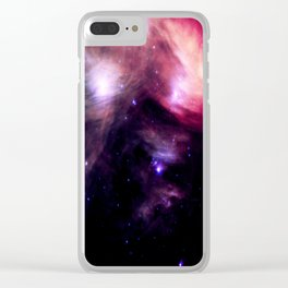 Galaxy : Pleiades Star Cluster nebUlA Purple Pink Clear iPhone Case