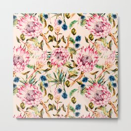 Pattern boho floral Metal Print