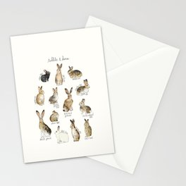 Rabbits & Hares Stationery Cards