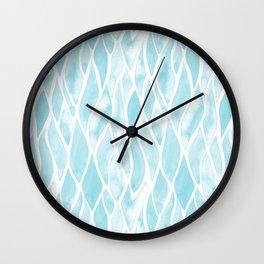 Sand Flow Pattern - Light Blue Wall Clock