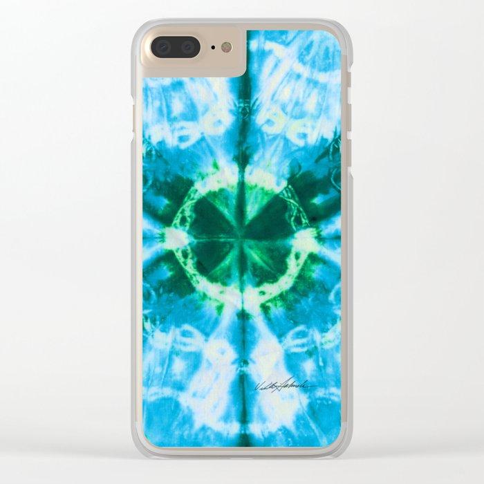 Boho Blue Bloom Clear iPhone Case