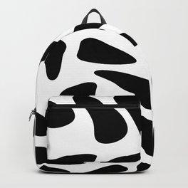 Black Pebbles Motif Backpack