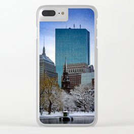 Winter in Boston Clear iPhone Case