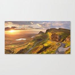 IV - Sunrise at Quiraing, Isle of Skye, Scotland Canvas Print