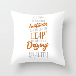 Funny & Awesome Gravity Tshirt Design Defying Gravity Throw Pillow