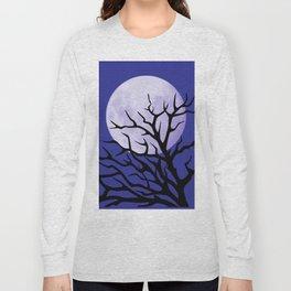 night tree and moon Long Sleeve T-shirt