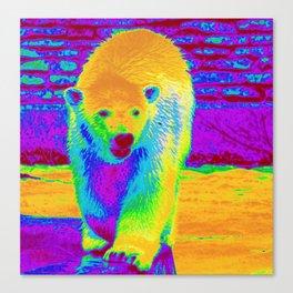 Polar Bear Of Many Colors Canvas Print