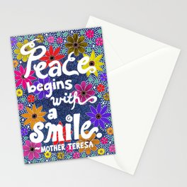 Peace Begins With A Smile Stationery Cards
