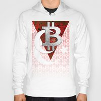 turkey Hoodies featuring bitcoin turkey by seb mcnulty