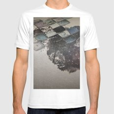 pattern2 MEDIUM White Mens Fitted Tee