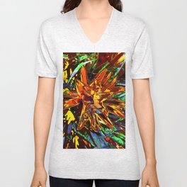 floral technique Unisex V-Neck