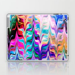 Abstract colorful marble swirls pattern Laptop & iPad Skin