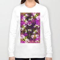 bees Long Sleeve T-shirts featuring Bees by Marven RELOADED