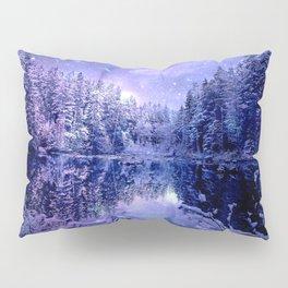Lavender Winter Wonderland : A Cold Winter's Night Pillow Sham