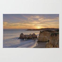 Praia da Rocha dusk, Portugal Rug