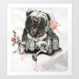 A Bear Named Bobo. Art Print