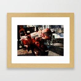 left turn, or transcendence of time and place Framed Art Print